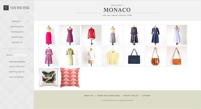 Web Store 3.1.4 new theme Monaco for LightSpeed Pro