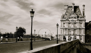 Black and white photo of Paris
