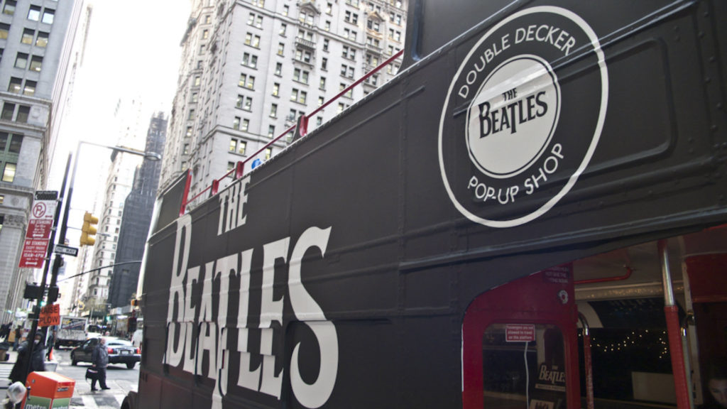 Beatles Double Decker Pop Up shop