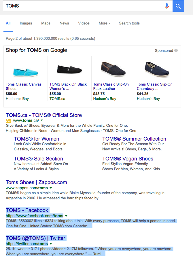 Toms-Shoes-Social-SEO- Example