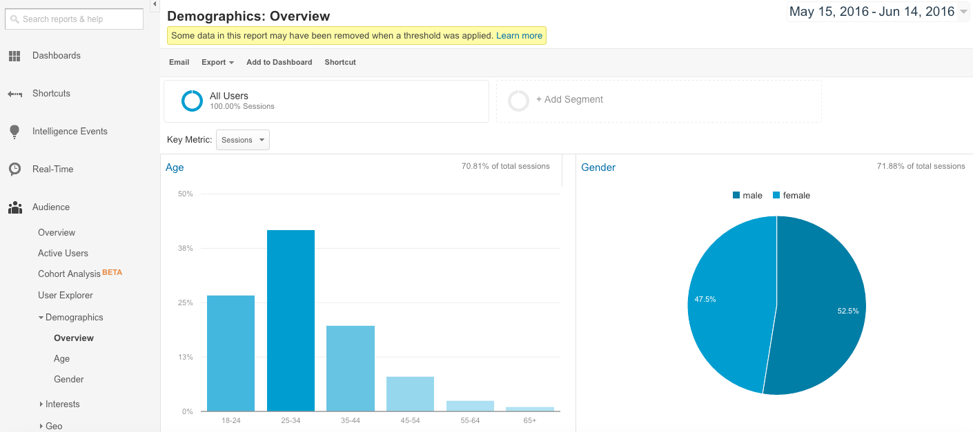 google analytics demographics