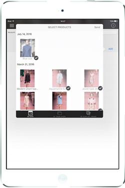 iMerchandise on an iPad
