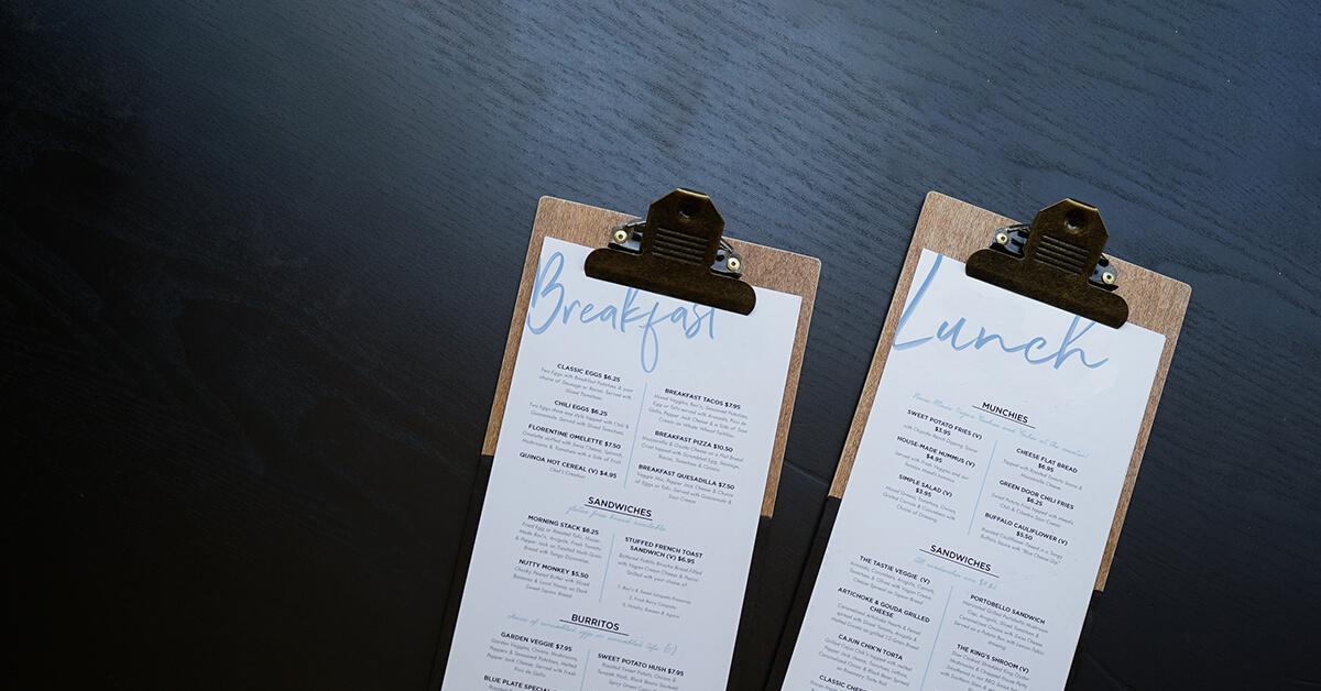 8 Inspiring Restaurant Menu Designs Lightspeed Hq