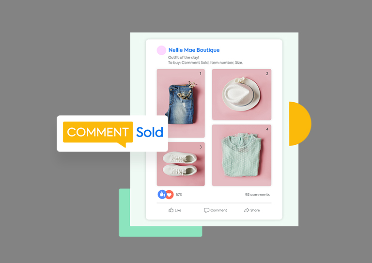 Sell directly through social media with CommentSold