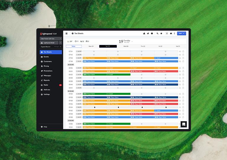 The complete golf course management system built for public courses
