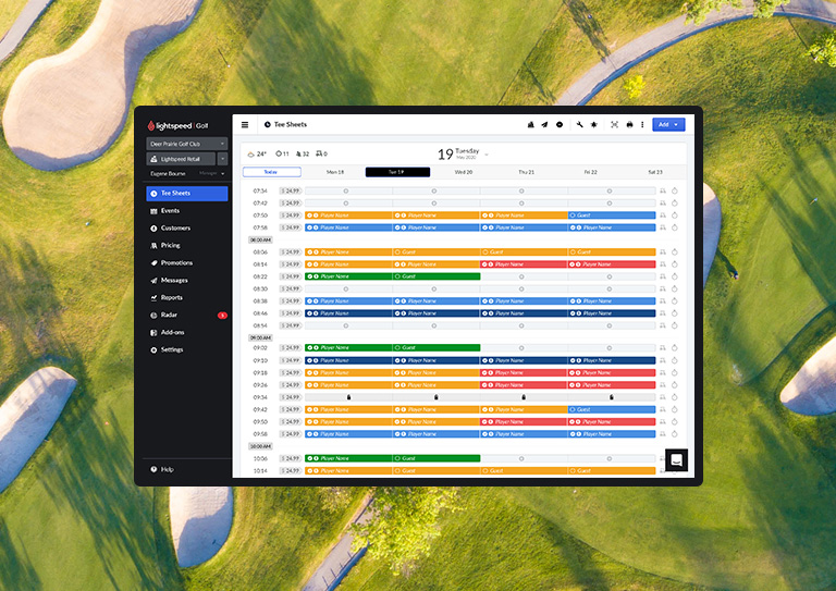 The perfect golf management system for municipal golf courses