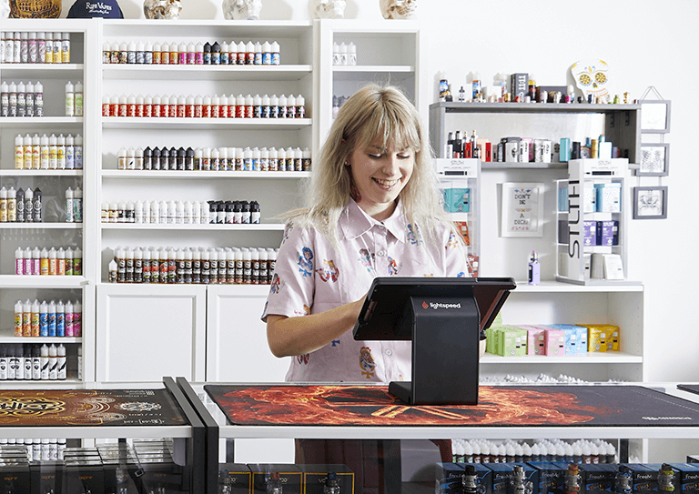 The vape shop ePOS</br> that helps manage your</br> entire business