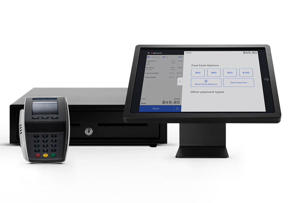 Lightspeed Payments sync from our POS to Tyro's terminals.