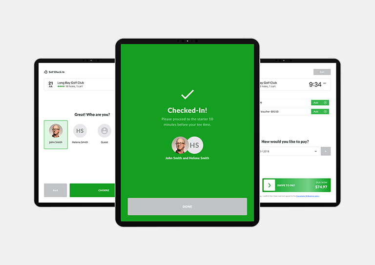 Get golfers to the first tee faster with a self check-in kiosk