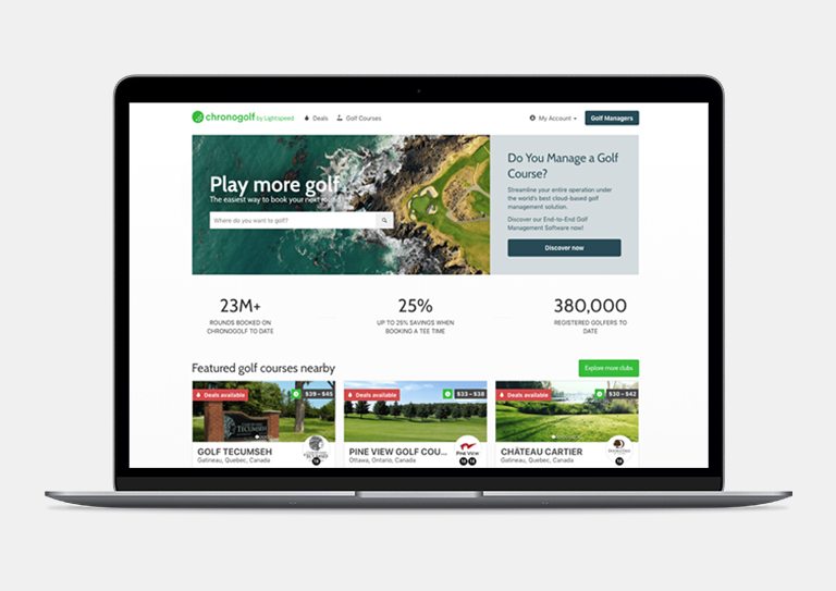 Increase your exposure with the Chronogolf Marketplace