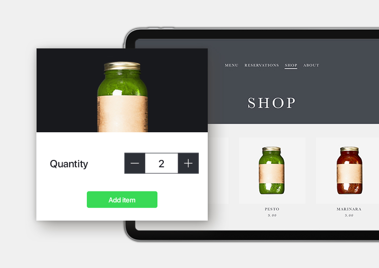 Extend your business with an eCom for Restaurant webstore